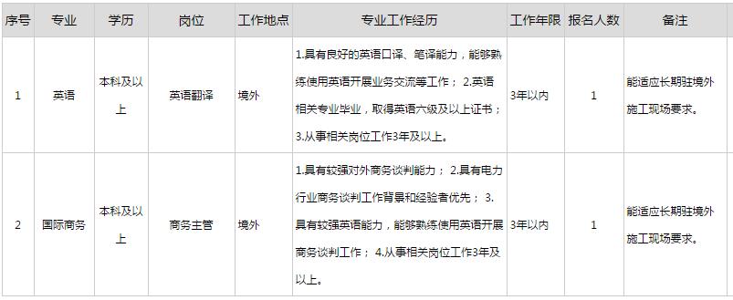 2017年中国大唐集团海外投资有限公司招聘公告